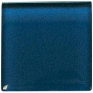 Dark blue glass kitchen wall tile