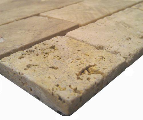 Mosaico Travertino Brick-5722