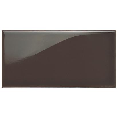Dark chocolate brown brick tile
