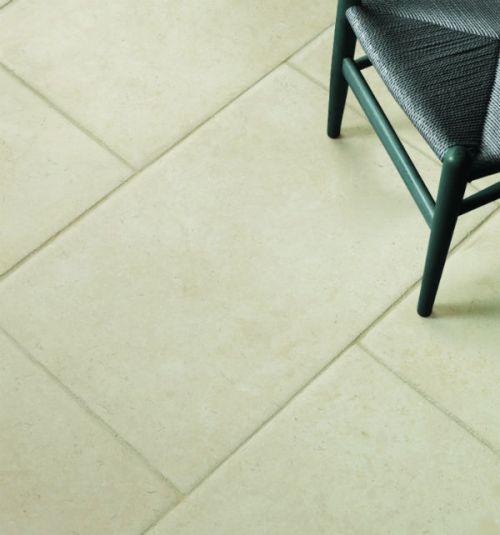 White limestone tiles
