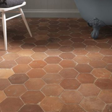 Antique Terracotta Hexagon Tiles