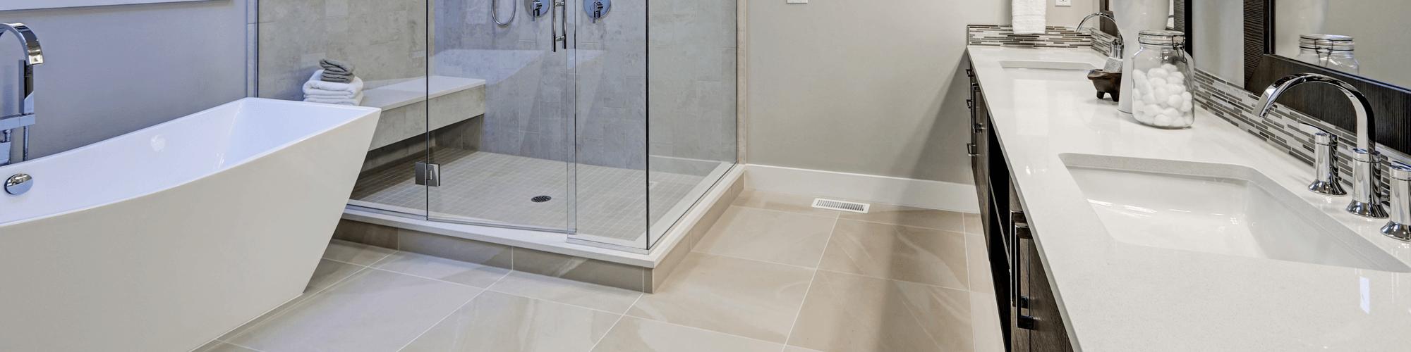 heated tile floor installation in