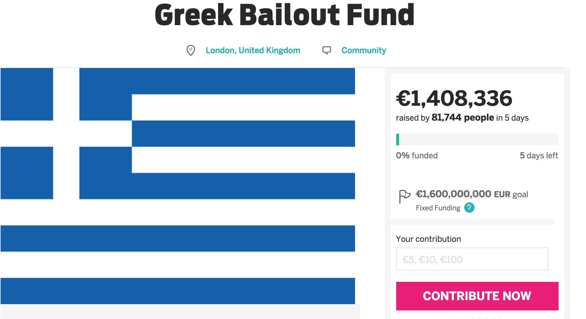 tilestwra.com   Συγκέντρωσε 1.400.000 ευρώ σε 3 ημέρες για την Ελλάδα και συνεχίζει...