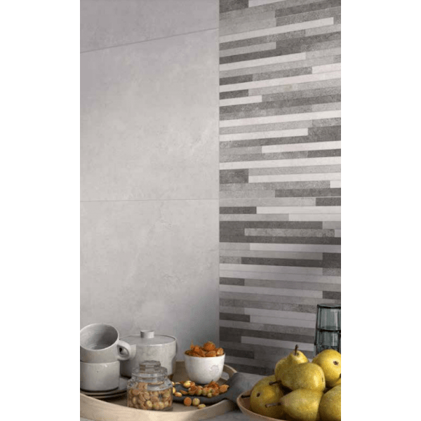 Melodie Grey Feature 33cmx55cm Red Body Kitchen And Bathroom Wall Tile