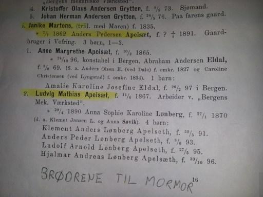 Utdrag av boken om Martens-slekten