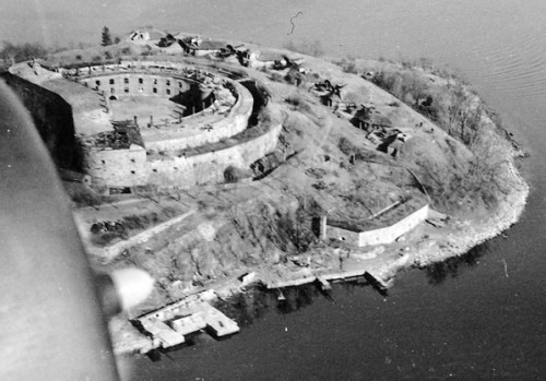Oscarsborg festning 1940. Bildet er fra festningsverk.no