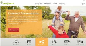FamilySearch hovedside