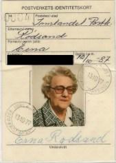 Mormor Erna ca 70 år