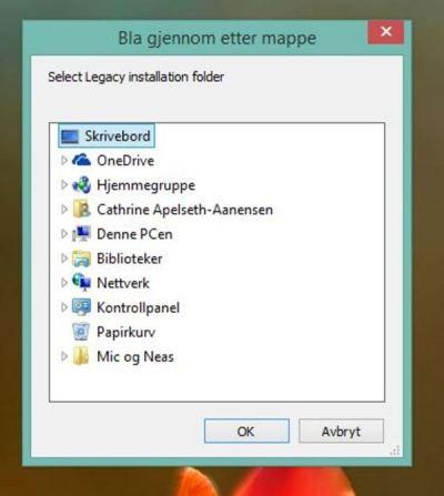 Hvor skulle jeg lagre filen Familys Sync?