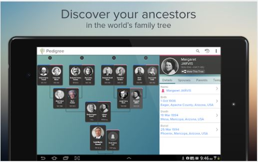 Family Search Tree app