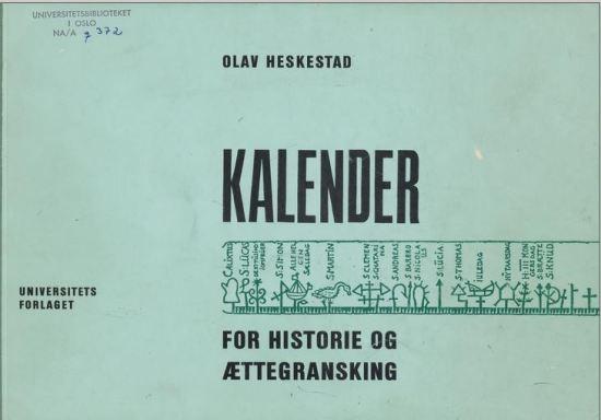 Olav Heskestads omformingskalender for slektsgranskere