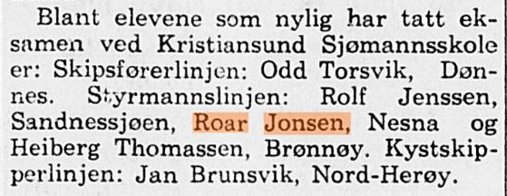 Min far i Nordlands avis i 1954