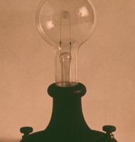 Gammel elektrisk lampe