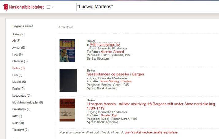 Mitt søk på Nasjonalbiblioteket