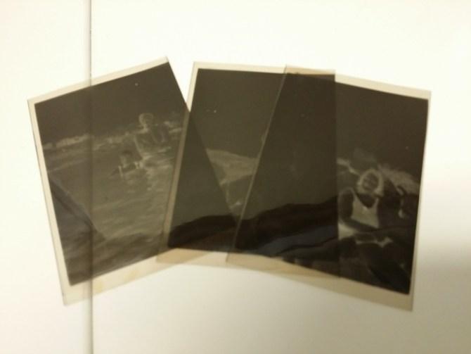 Negativene til de tre bildene det ble noe av.