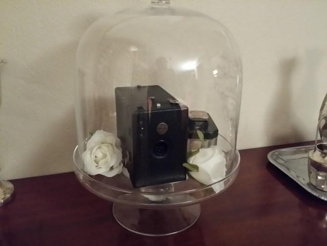 Kamera i glassklokke