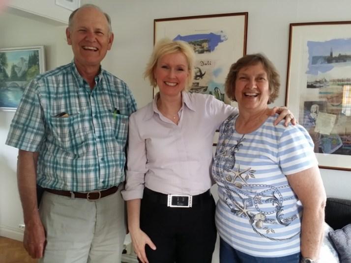 Gary, meg selv og hans kone Diana.