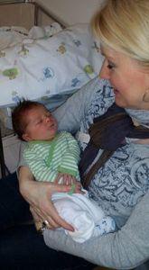 Her er jeg med mitt nyeste barnebarn Ezra - 2016