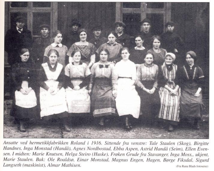 Min grandtante Ebba jobbet på hermetikkfabrikk i 1916