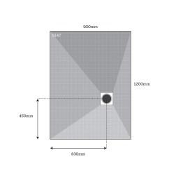 dukkaboard corner drain shower tray 5147 [ 1000 x 1000 Pixel ]