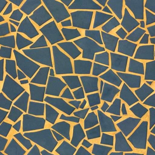 broken shattered tiles mosaic