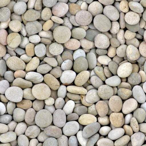 Colorful round river stones - seamless texture