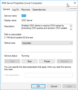 vROps Windows DNS Server
