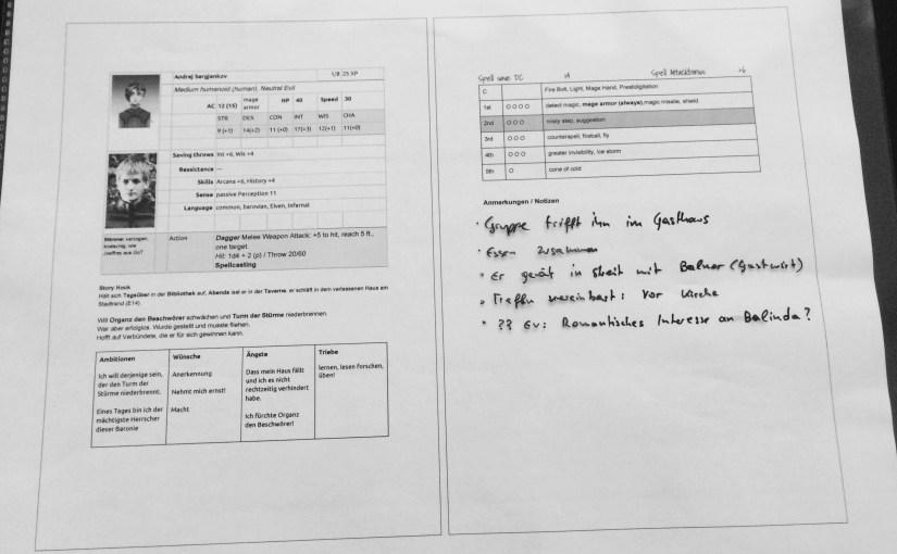 Erste Schritte als DM: NPCs vorbereiten – Teil 1: Organisation am Papier