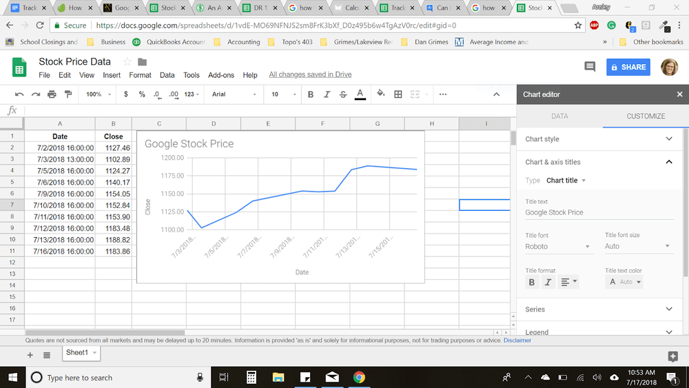 How to Make an Investment Tracking Spreadsheet with Google