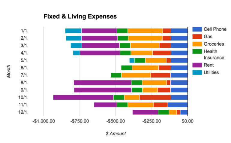 Fixed and Living Expenses Categroies
