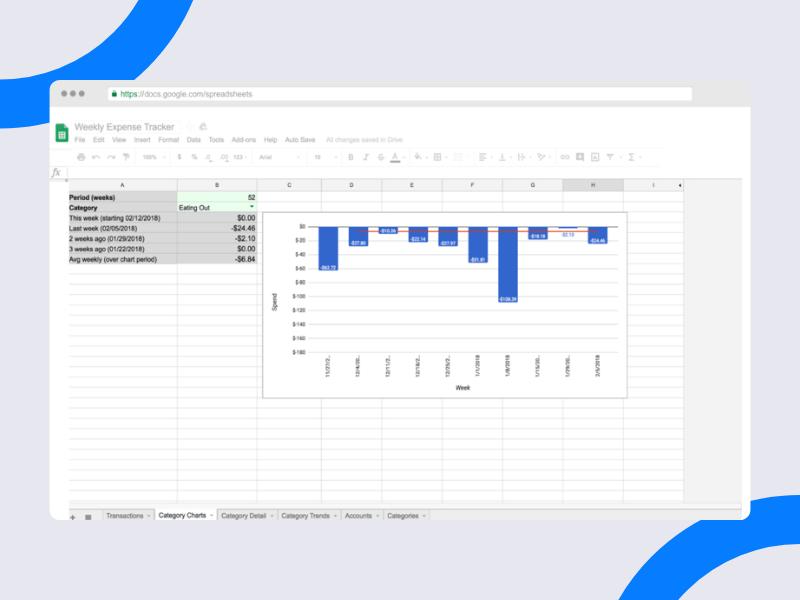 Tiller Weekly Expense Tracker