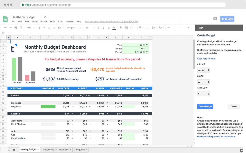 tiller-budget-dashboard-sidebar
