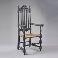 William and Mary Bannister Back Arm Chair  Jeffrey Tillou ...