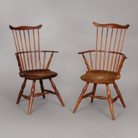Pair of Windsor Arm Chairs  Jeffrey Tillou Antiques