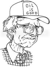 Portraitzeichnung von Ragnar Hedlund
