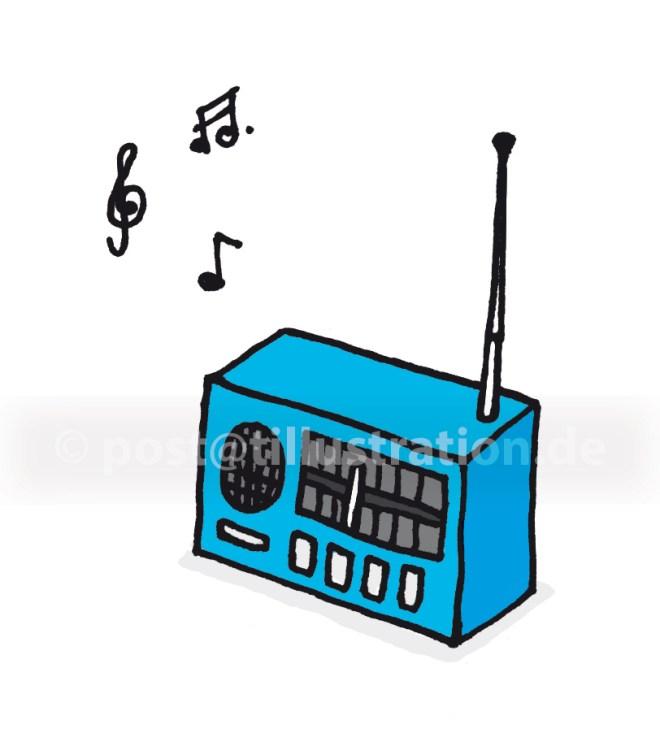 Ein altes Radio spielt Musik