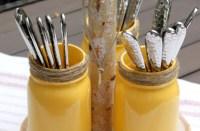 DIY: Rustic Mason Jar Utensil Holder - Tilly's Nest