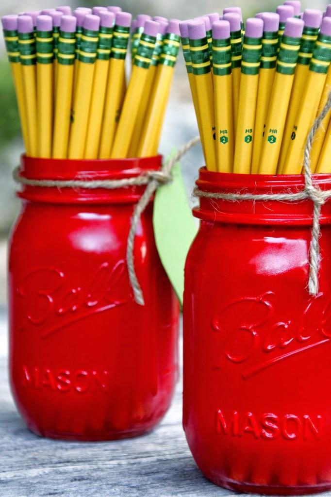Apple Mason Jar Pencil Holders Tillys Nest