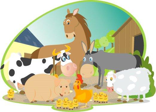 Livre sur les animaux de la ferme