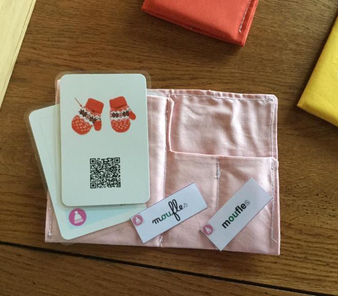 Pochettes des cartes de vocabulaire