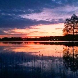 Midsummer night by the lake in Keuruu, Finland