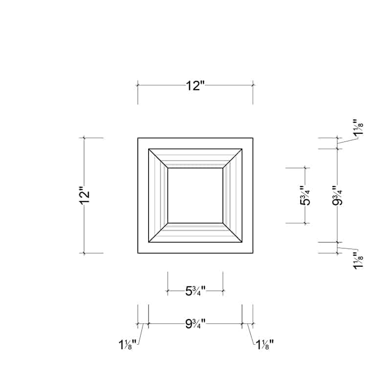 coffered ceiling tile square 12x12