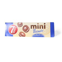 7DAYS MINI BISCUITS VANIL 100g