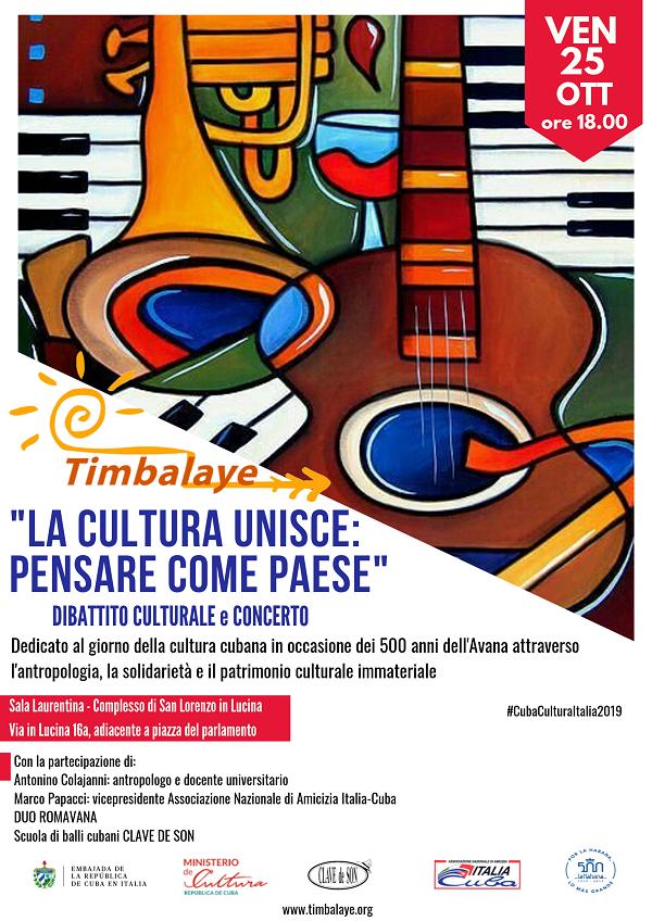 Timbalaye celebra en Roma el día de la cultura cubana