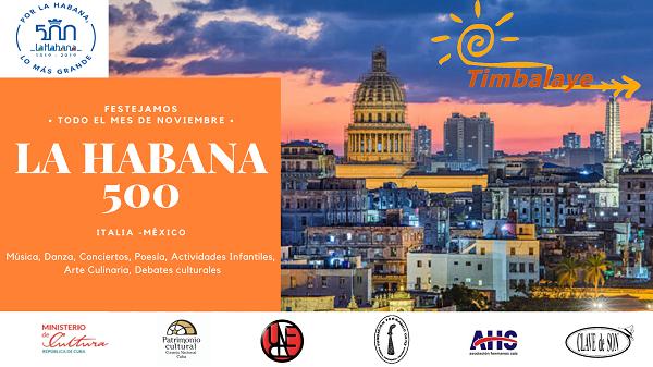 Timbalaye festeggia nel mese di novembre il 500 anniversario dell'Avana