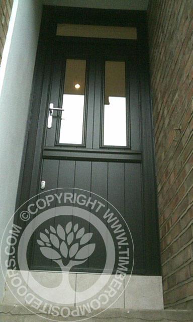 Black Solidor Composite Stable Door  Timber Composite