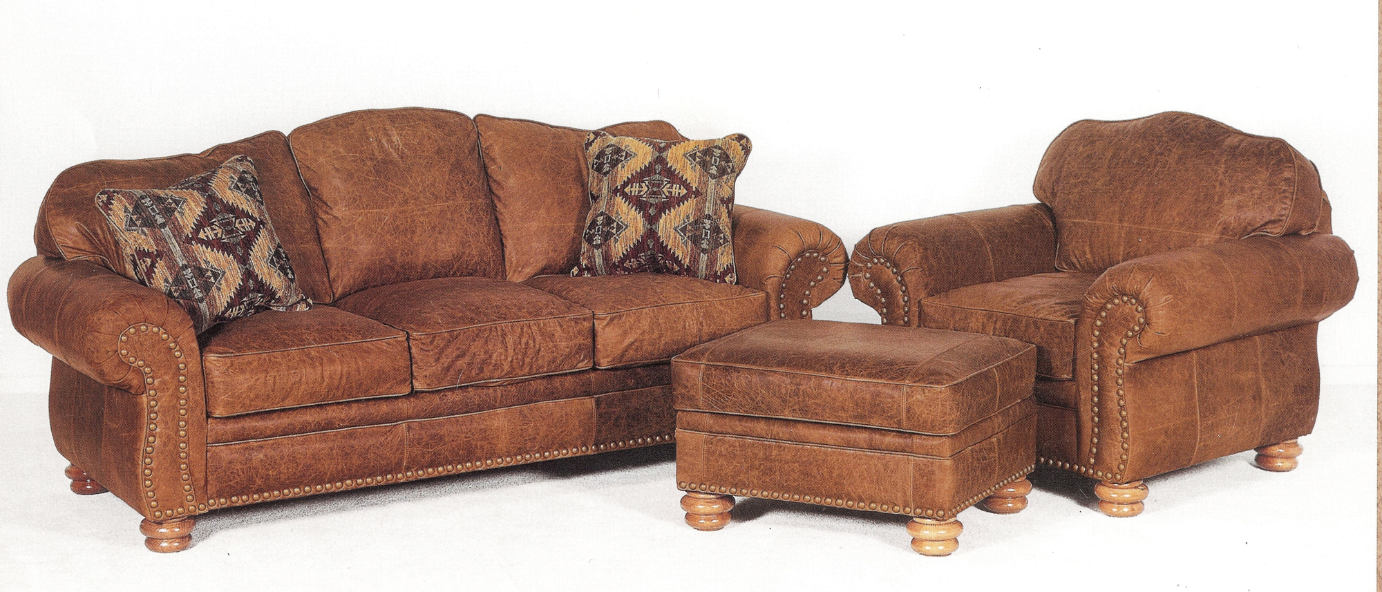 rustic leather sofa set lack table dimensions distressed chair and ottoman