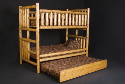 hickory chair bedside tables high cover pad pine log bunk beds (available in twin/twin, twin xl/twin xl, twin/full, xl/queen, full/full ...