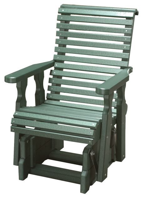 Rollback Poly Wood Glider Chair With Swivel Option