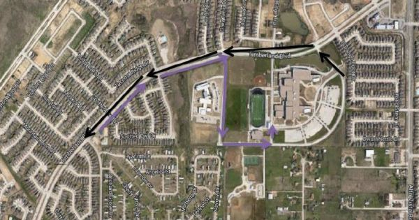 homecoming parade route CUT